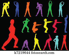 aerobics girl 5 - vector