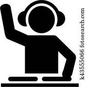 DJ pictogram