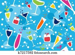 Multicolour cocktail pattern