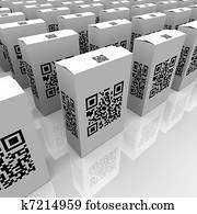 QR Codes on Product Boxes for Scanning Information