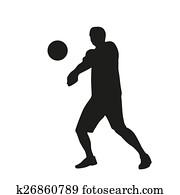 Volleyball Silhouettes | Volleyball silhouette, Volleyball