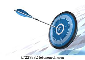 blue target and arrow over a modern background image is placed on the bottom right side