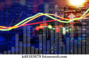Business concept of stock market background design