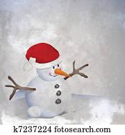 Snowman retro