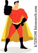 Superhero Thumbs Up