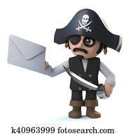 3d Pirate captain has mail