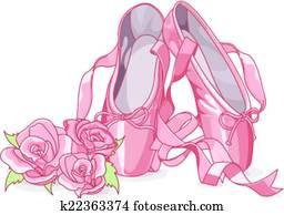 Beautiful ballet slippers