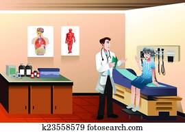 Doctor patient in the clinic