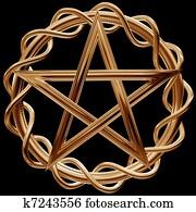 Golden pentagram