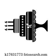 Clipart Geburstag Und Hochzeitstorten K19323964 Suche Clip Art