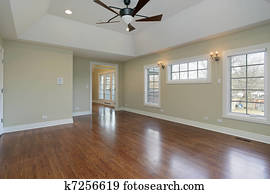 Master bedroom in remodeled home