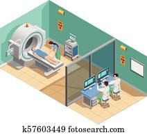 medizinische prüfung, isometrisch, zusammensetzung