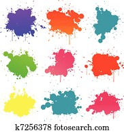Paint splat collection