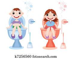Toilet symbols, vector
