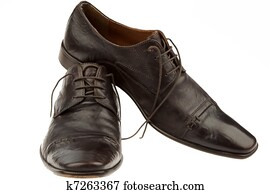 Men's shoes of a businessman