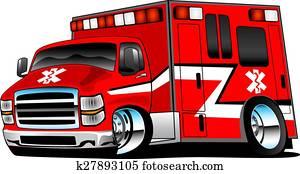 rot, rettungshelfer, krankenwagen