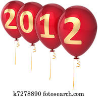New Year's 2012 eve balloons
