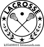 Sign lacrosse in a circle