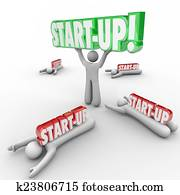 Start-Up Person Holding Word Best Business Person Entrepreneur W