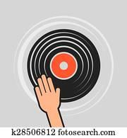 Vinyl Record Hand Scratch