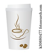 A coffee cup