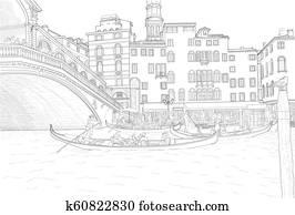 sketch of Venice