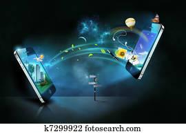 Smart phones communication
