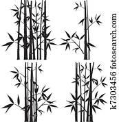 Clipart Holzerner Rahmen Von Bambus Stocke K6205213 Suche