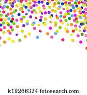Color Confetti Frame