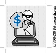 hacker thief Vector