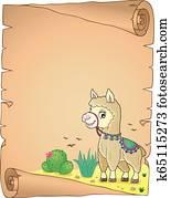 Llama theme parchment 3
