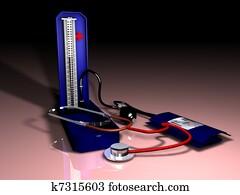 blood-pressure mercury-in 3D graphi