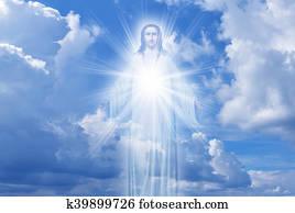 Jesus Christ in Heaven religion concept