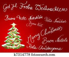 Multilingual Christmas card