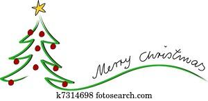 weihnachten, karte, frohe weihnacht