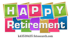 Happy Retirement Colorful Background