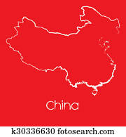 Map of the country of China