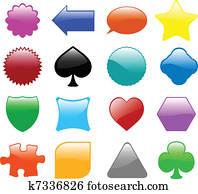 glossy shapes