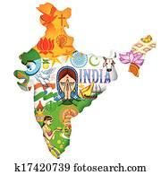 kultur, von, indischer
