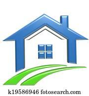 Real Estate 3D logo House
