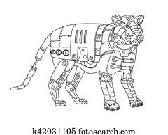 Clipart Ausmalbilder Wald Tier Fledermaus Karikatur K31206401