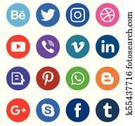 web, medien, symbol, sammlung