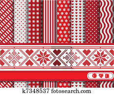 Christmas scrapbooking red