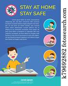 stay at home stay safe for children