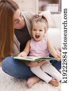Huge joy from listen like mother reading book