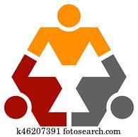 human community hexagon symbol