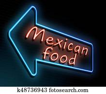 Mexican food concept.