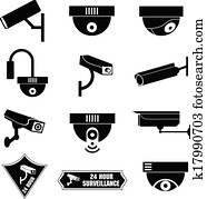 Video surveillance, cctv icon