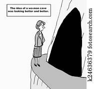 Woman Cave for Work Life Balance