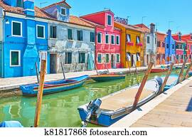 Canal in Burano - Venice